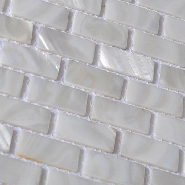 15x30mm metro vzor čistě bílé čínské sladkovodní skořápky mozaiky pro chodby koupelna sprcha backsplash domů zlepšení