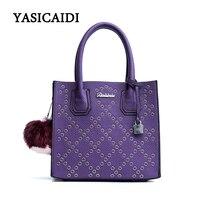 Casual PU Leather Woman Bag Ladies Bags Handbags Women Famous Brand Hairball Shoulder Bag Solid Popular