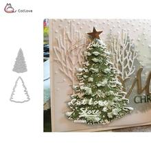 Рождественская елка, металлические Вырубные формы, Рождественский трафарет для поделок, скрапбукинга, бумажные карты, декоративное ремесло, тиснение, вырубки, новинка