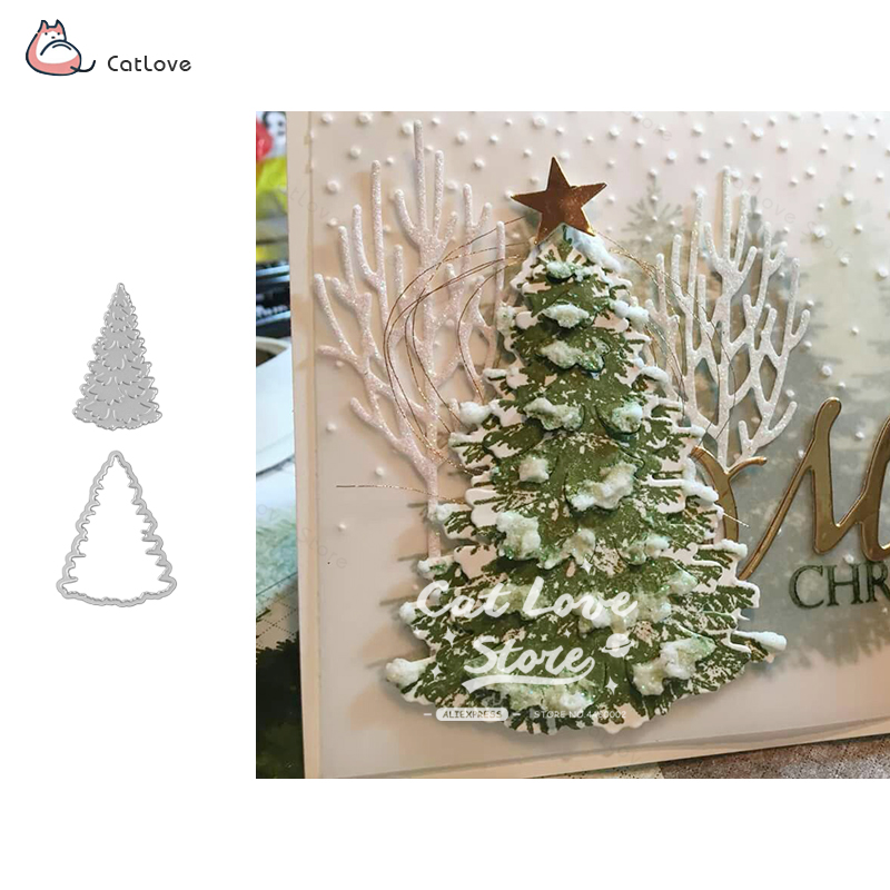 Christmas Tree Metal Cutting Dies Christmas Stencil For Diy Scrapbooking Paper Card Decorative Craft Embossing Die Cuts New 2018