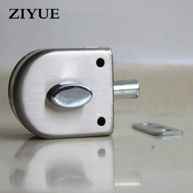 Free Shipping Stainless Steel Bathroom Toilet Office Entry Gate Single  Glass Door Lock Keyless Lock Knobs