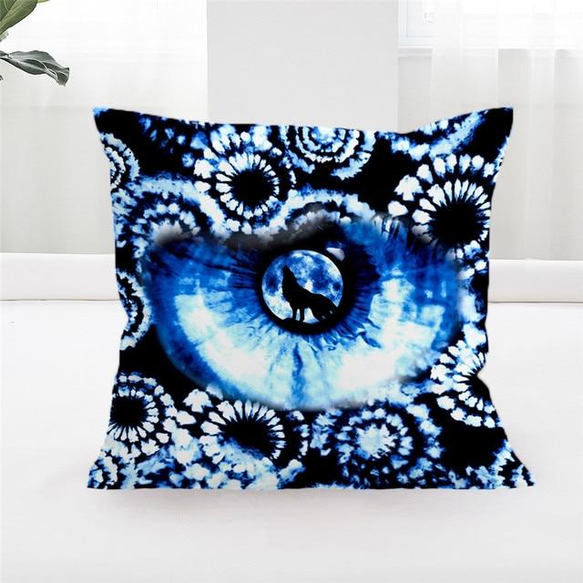 Blessliving Blue Tie Dye Pillow Covers Watercolor White Tye Dye Home
