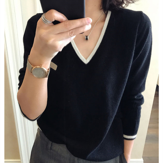 High Quality Cashmere Sweater Women Winter Pullover Solid Knitted Sweater Top for Women Autumn Female Oversized Sweater