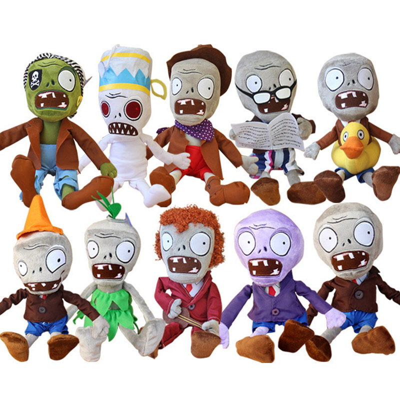 Plants vs Zombies Plush Toys 30cm PVZ Plants vs Zombies Hats Pirate Duck Zombies Plush Stuffed Toys Doll Gifts for Kids Children(China)