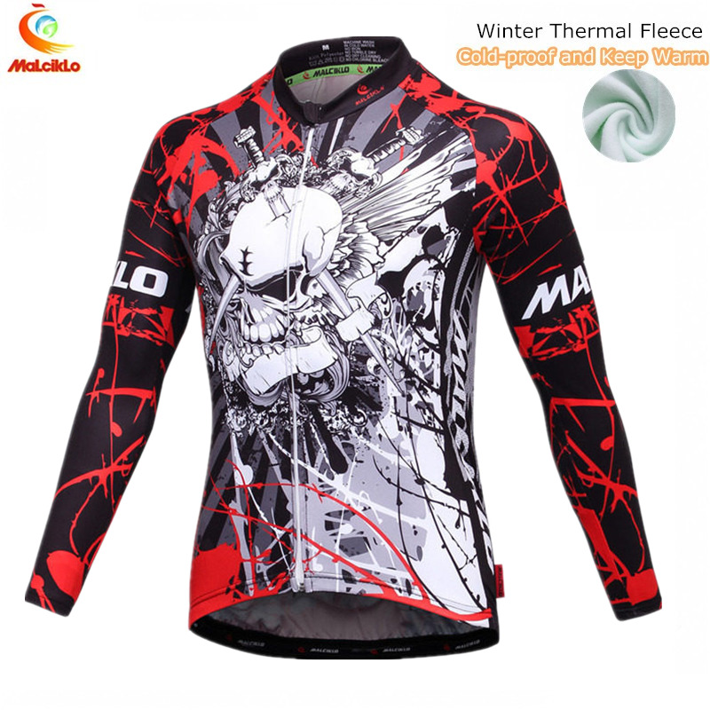 Malciklo Bike Clothing Cycling-Jacket Winter Long-Sleeve MTB Boy And Men Cold-Proof Keep-Warm
