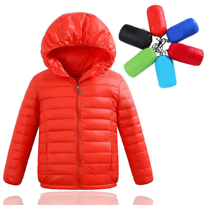 2 10Y Ultra light boys down jacket for girls white down parkas 90 down winter warm