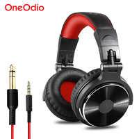 Oneodio dj fone de ouvido jogos com microfone telefone pc com fio sobre-orelha de alta fidelidade estúdio dj fone de ouvido profissional monitor estéreo urbanfun
