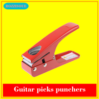 Hot DIY Guitar Picks Plectrum Shaped Hole Puncher Guitar Accessories Tools Corner Hole Punch Craft Punchers Perforatrice Papier