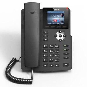 Image 1 - Teléfono Fanvil IP X3S, teléfono de sobremesa con montaje en pared, 2 líneas SIP con pantalla a Color, auriculares habilitados para POE por voz HD, teléfono de sobremesa inteligente