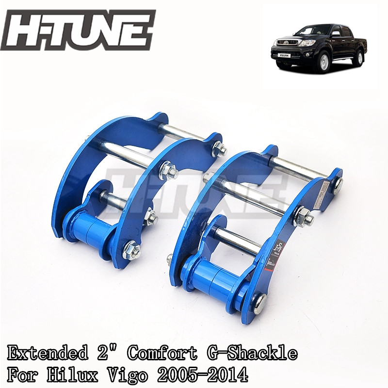 H TUNE 4x4 Accesorios Extended 2 Inch Rear Comfort G Shackle Lift Kit for Hilux Vigo
