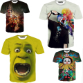 New arrival size S-XXL  Europe and America Clown print tops tee Hot 3d tshirt Men's casual t-shirt