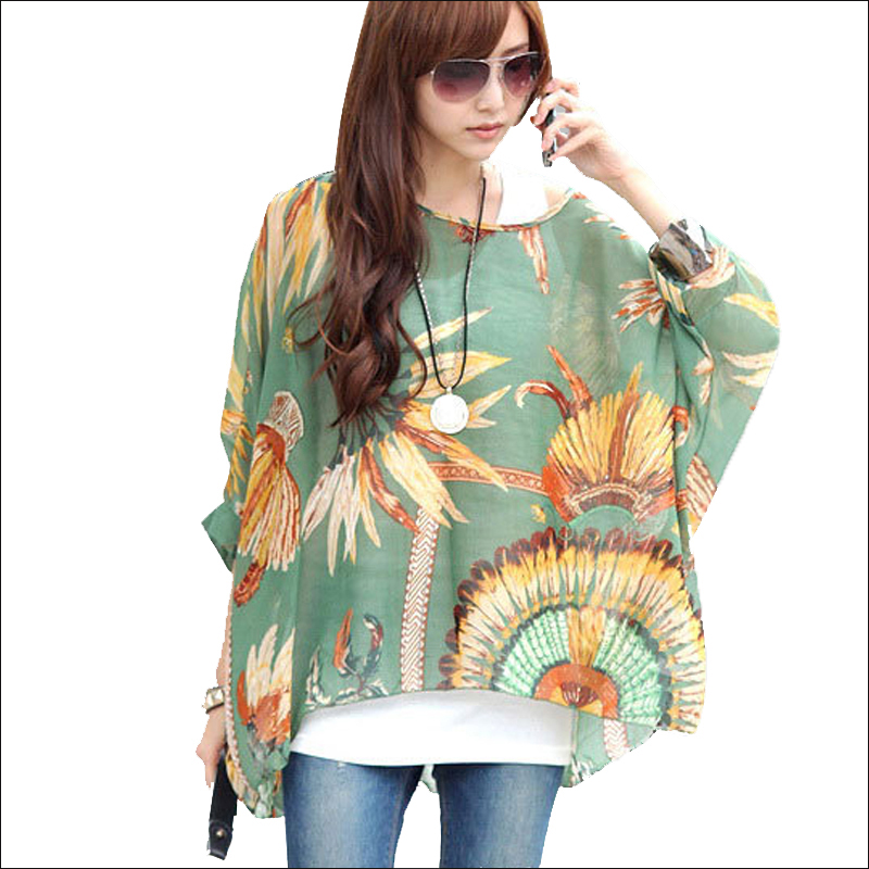 15f354c8f1e Summer Tops for Women 2018 New Style Striped Print Casual Blouse Shirt  Batwing Sleeve O neck Women Kimono Chiffon Blouses Blusas-in Blouses    Shirts from ...