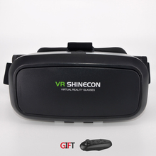 VRความจริงเสมือนแว่นตา3DชุดหูฟังO Culus riftหัวหน้าเมา3Dภาพยนตร์เกมสำหรับ3.5-6.0นิ้วโทรศัพท์+บลูทูธการควบคุมระยะไกล