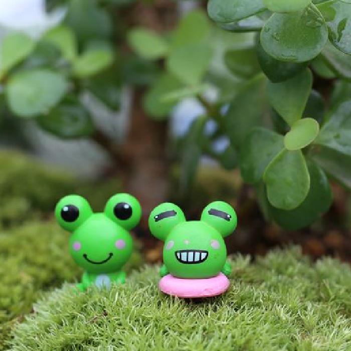 1.6*1.8 см маленький лягушонок мох микро пейзаж мультфильм Micro пейзаж мини Сказочный Сад миниатюры ремесел P2