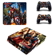 Star Wars PS4 Slim Sticker For Sony Playstation 4 Slim Console+2 controller Skin Sticker For PS4 S Skin