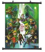 Home Decor The Legend of Zelda 25th Anniversary Game Fabric Wall Scroll Poster