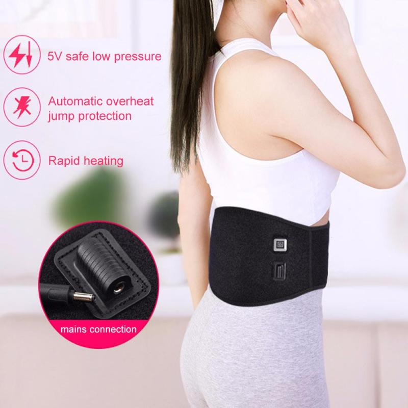 USB Charge Waist Heating Pad Support Belt Back Heat Wrap Lumbar Warm Therapy Hot Pain Relief Muscle Relax L4 relieve pain relax massager heat belt infrared therapy heating belt healthy waist support acupuncture digital stimulator device