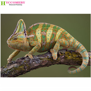 animal King chameleon Full square DIY 5D Diamond Painting cross stitch kits mosaic Diamond embroidery Wedding home gift image
