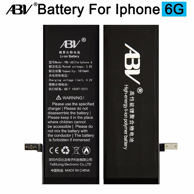 ABV Brand battery ip6 Replacement battery For Apple iPhone 6 battery with free repairing tools