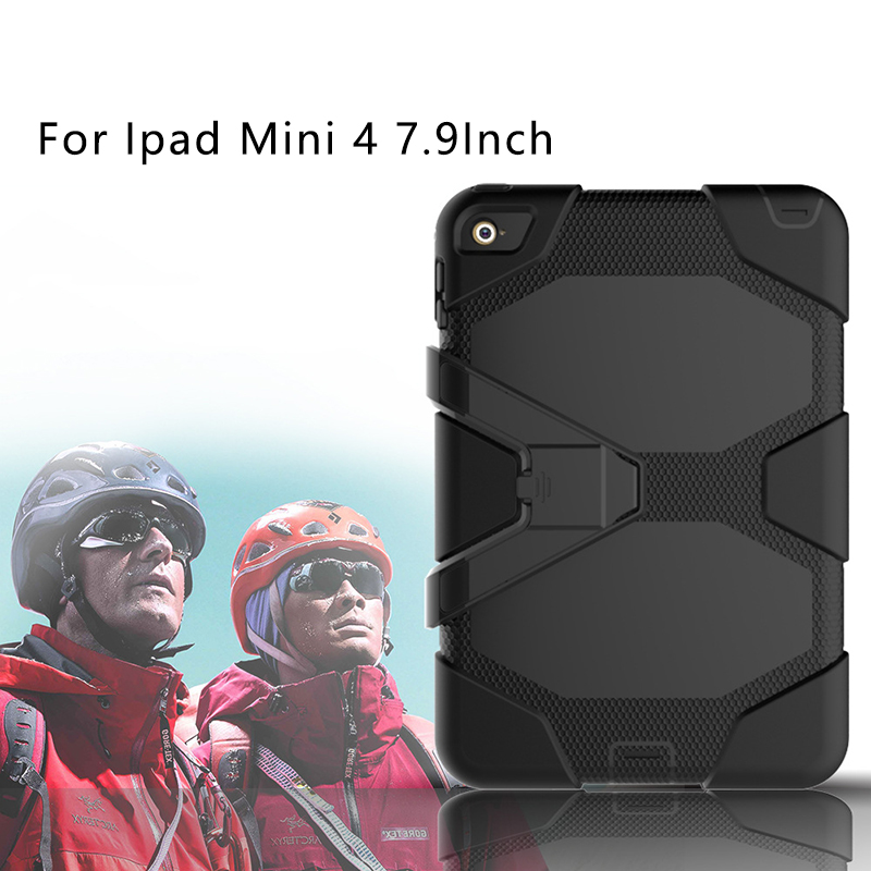 Heavy Duty Drop Resistance Case For ipad Mini 4 7.9 Rugged Shockproof Anti-slip Silicone Cover For Ipad Mini 4 7.9 Tablet case for ipad pro 12 9 case tablet cover shockproof heavy duty protect skin rubber hybrid cover for ipad pro 12 9 durable 2 in 1