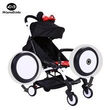 2 unidades bbz yoyo cochecito cochecitos de bebé cochecito de niño del cochecito ruedas delanteras trasero rueda de goma niños yoya accesorios para carro