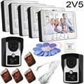"7"" Video door phone systems ID Card/Remote Control Unlock Rainproof Security CCTV Camera Home Surveillance In Stock 2v5"