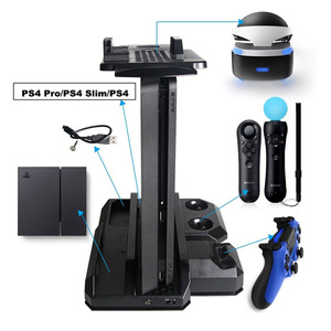 Image 1 - Multifunctional Vertical Console Cooling Stand PS4 Pro/PS4 Slim/PS4 PS Move PS4 Controller Charger Station VR Showcase Holder