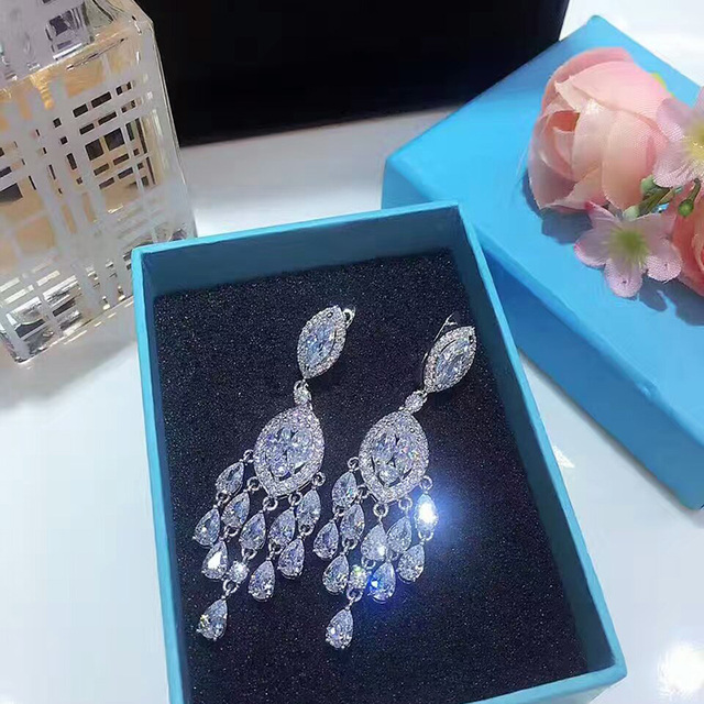 YAN MEI European And American Fashionable Big Exquisite Plant Zircon