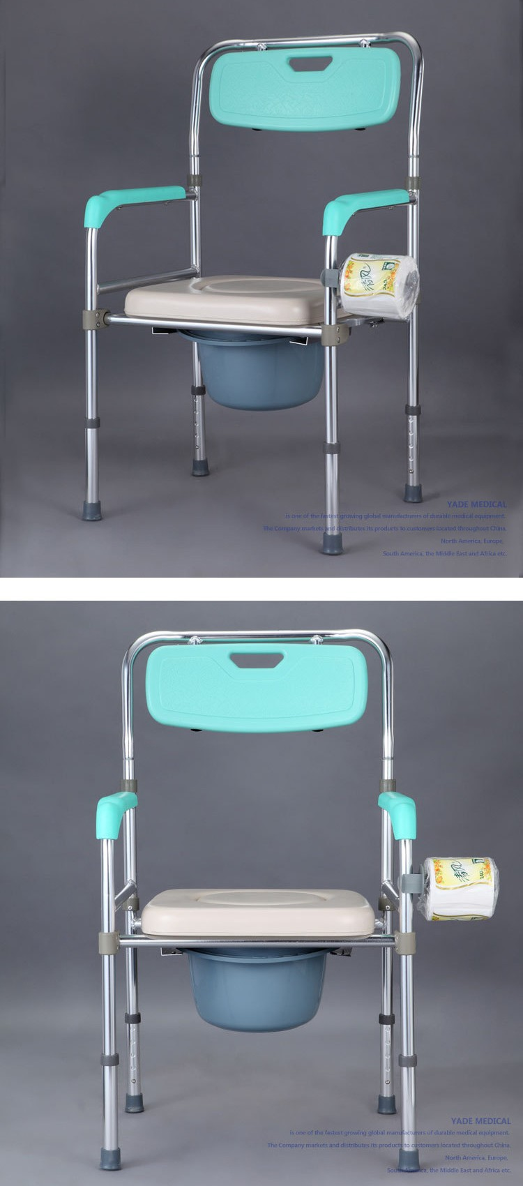 1x Multifunctional Bathroom Shower Chair Folding Toilet Potty Chair ...