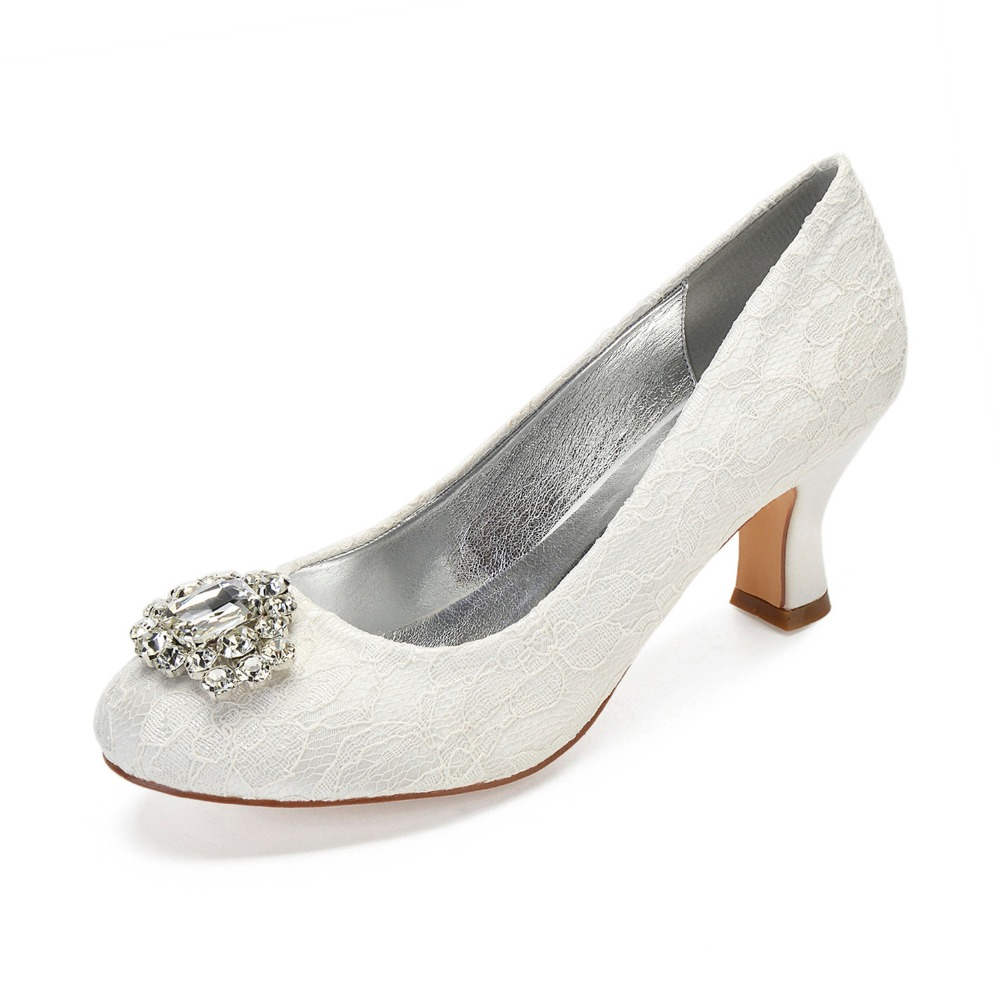 Ivory lace shoes