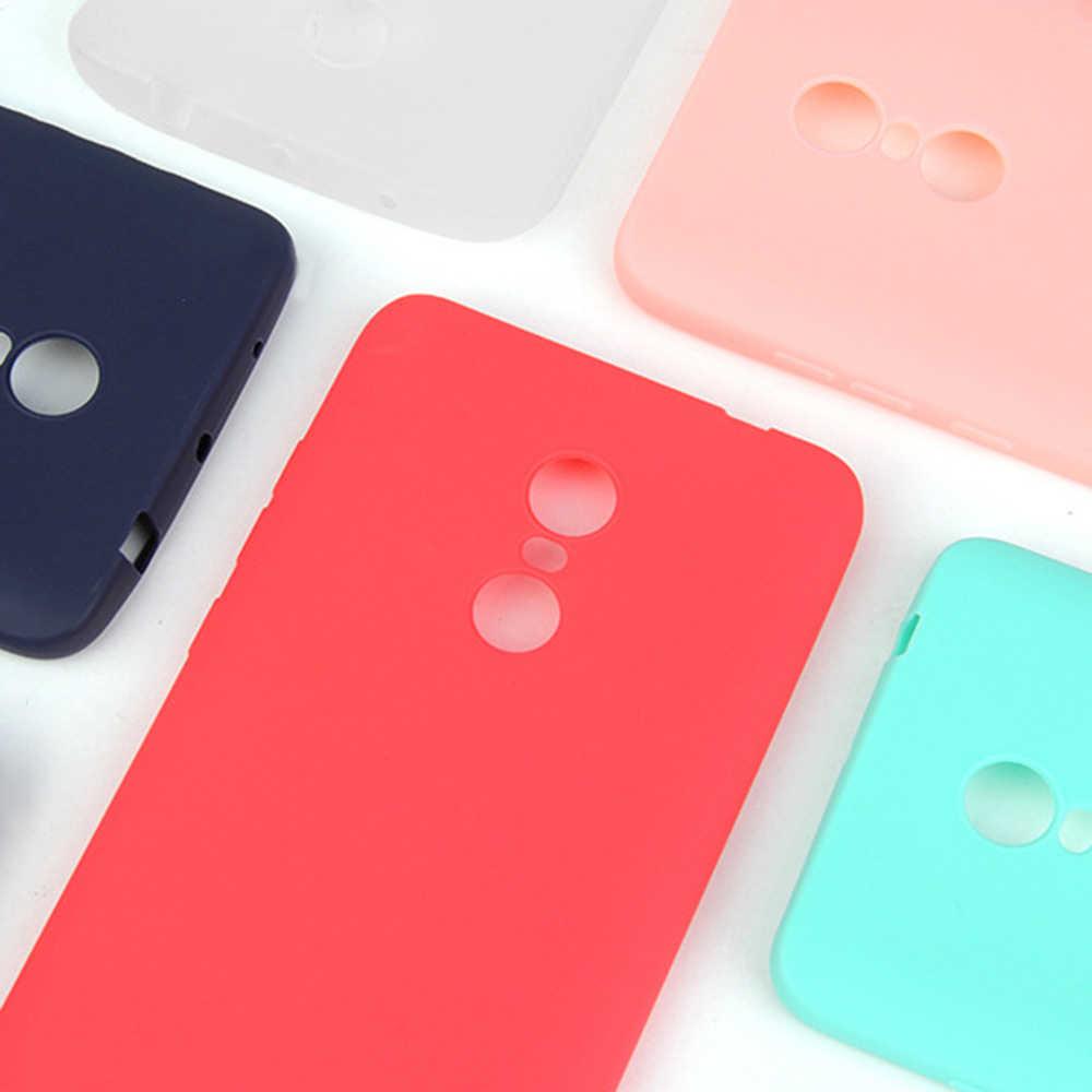 Matte Kẹo Màu TPU Trường Hợp Đối Với Xiaomi Redmi Lưu Ý 6 5 Pro 6A 5A 7 Silicone Mềm Trở Lại Bìa Cho redmi 6 Pro 5 Cộng Với Lưu Ý 4X Fundas
