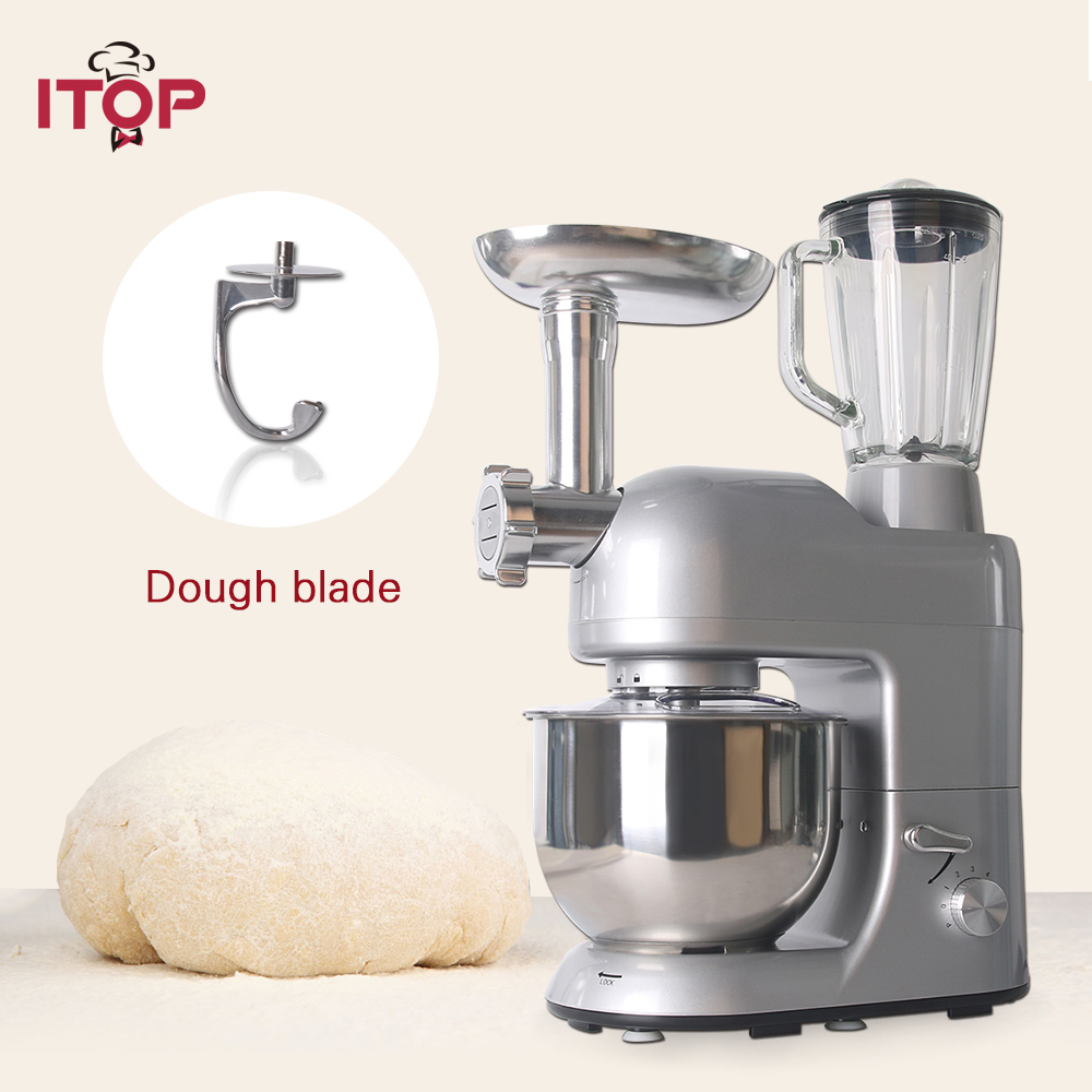 ITOP Multifunctional Heavy Duty Food Dough Mixers Machine Commercial Blender Juicer Electric Meat Grinder Mincer Sausage Fillers