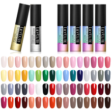 LILYCUTE 6 Bottles  Series Nail Polish 5ml Black White Red Gray Soak Off UV Gel Glue Lacquer Manicure Base Top Coat