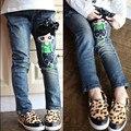 Crianças Buraco Quebrado Calças Calças Do Bebê Das Meninas Dos Meninos Marca de Jeans Da Moda Outono 2-12Yrs Crianças Calças Crianças Roupas