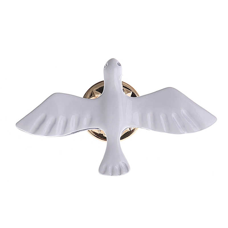 1 Pcs Fashion Perhiasan Hot Retro Sederhana Peace Dove White Pigeon Bros Indah Hewan Kecil Kerah Pria dan Wanita Perhiasan