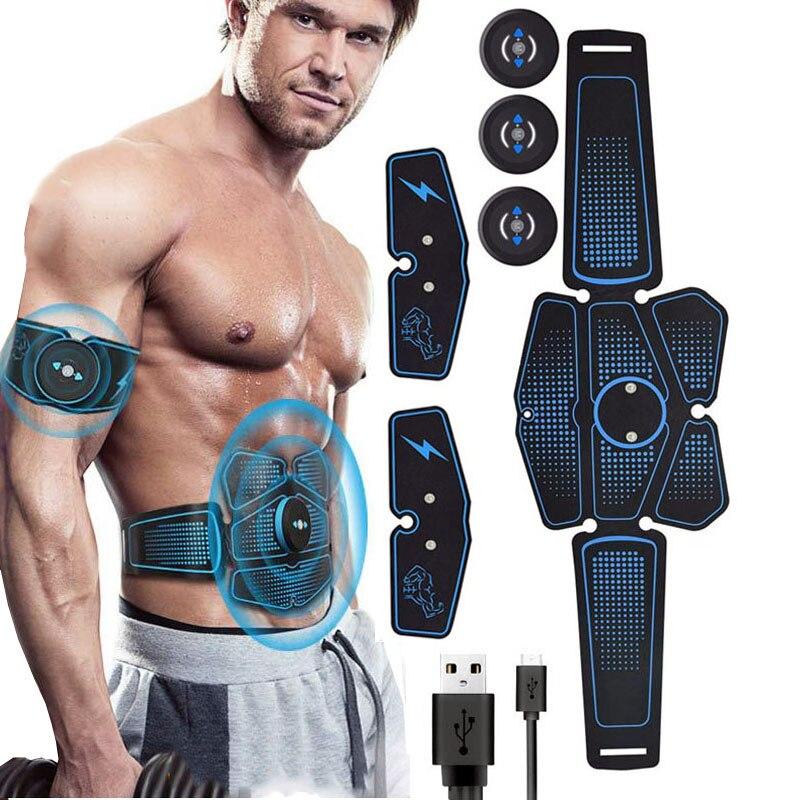 EMS appareil de musculation abdominale stimulateur ABS électrostimulation appareil de massage de Fitness perte de poids de l'abdomen minceur équipement de gymnastique à domicile