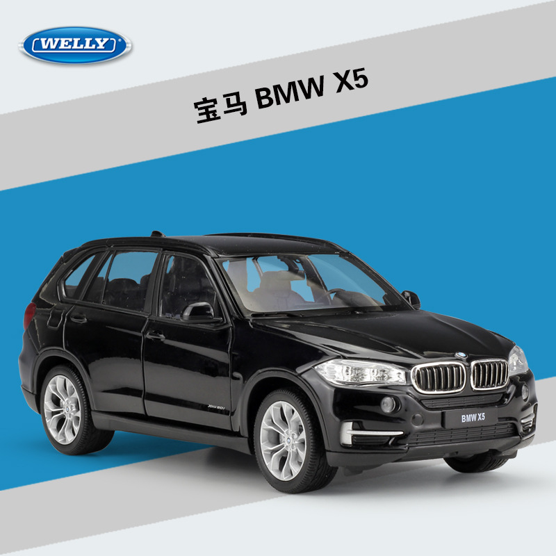 High Simulation WELLY 1:24 Model Classical Diecast Car BMWX5 SUV Metal Alloy Car For Children Gifts Toy X5 SUV Car Collection