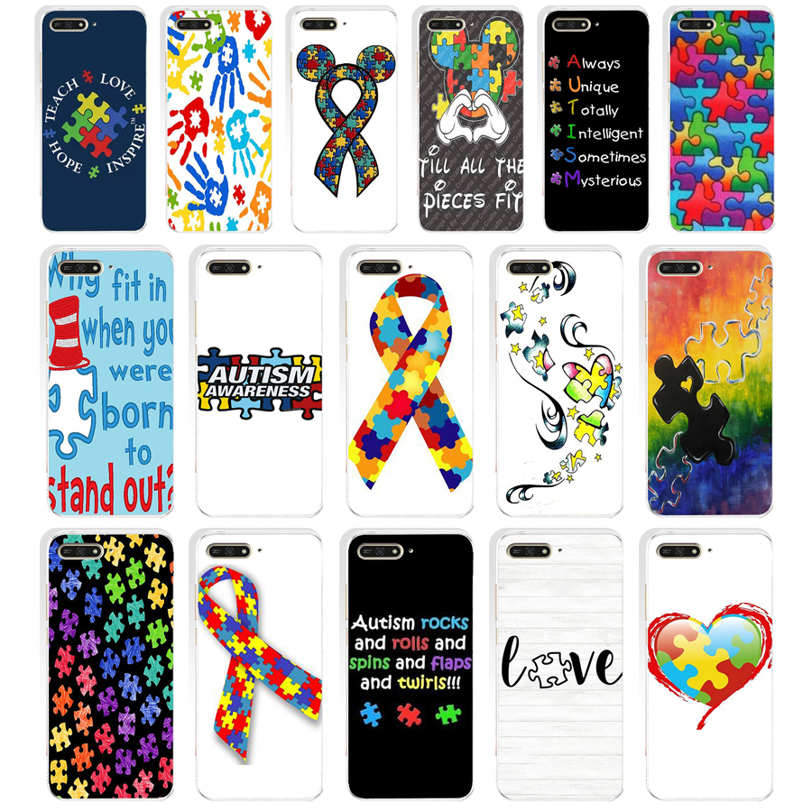 259sd Puzzle Autism Awareness Style Soft Silicone Tpu Cover Case For Huawei Honor 7c 7x 7a Pro 7x P20 Nova 2i 3i Good Heat Preservation Half-wrapped Case Phone Bags & Cases