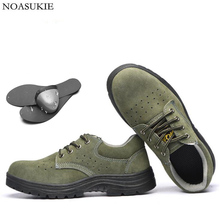 Hipsters Men Breathable Safety Shoes Lightweight Casual Work Shoes Mesh Anti-Smashing Puncture Steel Toe Shoes sitaile breathable mesh steel toe safety shoes men s outdoor anti smashing men light puncture proof comfortable work shoes boot