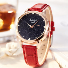 New Fashion Casual Watch Women Luxury Rose Gold Leather Wrist Watches Women's Elegant Quartz Watch Ladies Clock montre femme kevin fashion women red watch student quartz analog watches leather wristwatch elegant vintage casual crystal montre femme hour