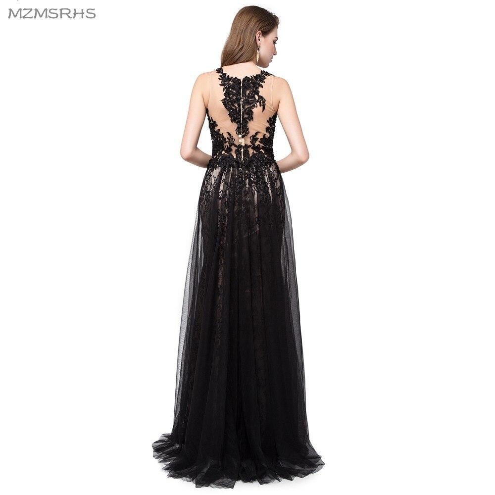 Κομψό μακρύ βραδινό φόρεμα Μαύρο - Ειδικές φορέματα περίπτωσης - Φωτογραφία 2