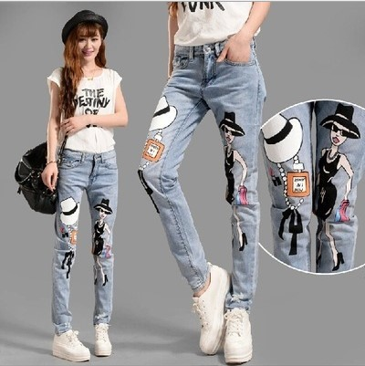 printed jeans for womens - Jean Yu Beauty