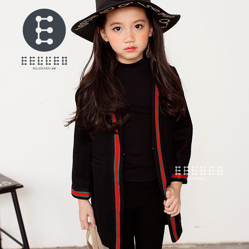 2017 New Children Wool Coats Brand Girls Winter Blends Fashion Kids Outerwear Baby Girl Warm Jacket Girls Long Sleeve Tops Coat t100 children sweater winter wool girl child cartoon thick knitted girls cardigan warm sweater long sleeve toddler cardigan
