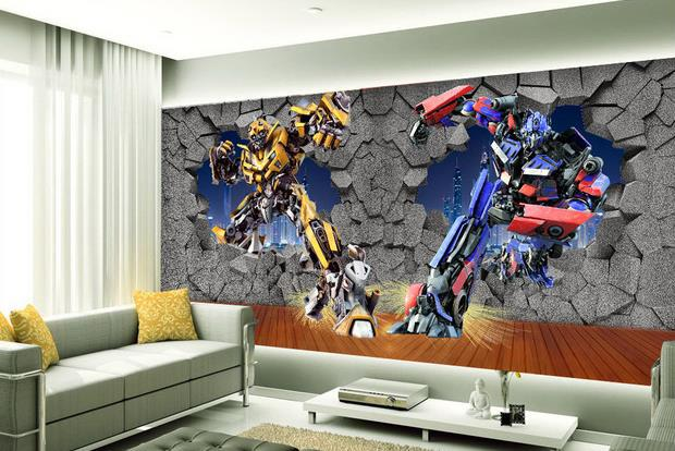 Wall paper Transformers wallpaper mural wall stickers wallpaper papel de  parede wallpapers20154599-in Wallpapers from Home Improvement on  Aliexpress.com ...