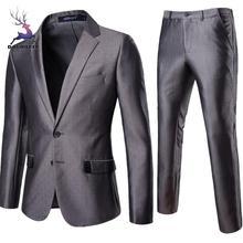 DOUDOULU, мужская деловая одежда для отдыха, простая двухкнопочная Свадебная вечеринка, одноцветные комплекты, Повседневная парка, пальто для мужчин для зимы# EW