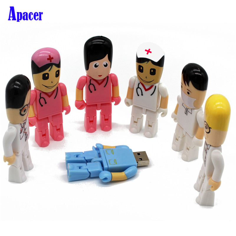 Apacer Usb2.0 nurse Doctor Flash Drive 4GB 8GB 16GB 32GB Pen Drive Nurse Gifts Memory Stick