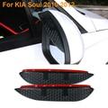 2016 Car Styling Carbon Rearview Mirror Rain Blades Car Back Mirror Eyebrow Rain Cover Protector For KIA Soul 2010-2012