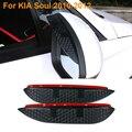 2016 diseño de Coches de Carbono Espejo Retrovisor Lluvia Hojas de Nuevo Espejo Ceja Cubierta Para La Lluvia Protector Para KIA Soul 2010-2012