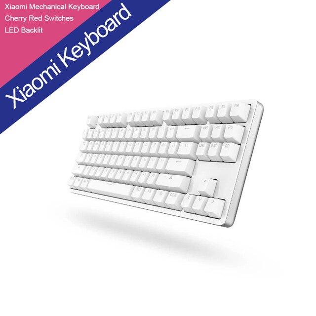 XIAOMI Yuemi Механической Клавиатуры 87 Ключи Gaming Keyboard с Вишнево-Красный Выключатели и СВЕТОДИОДНОЙ Подсветкой