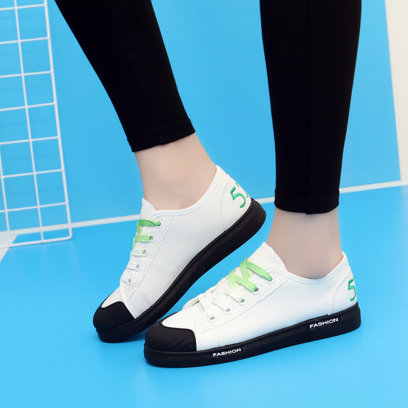 Women Shoes 2018 New Summer Autumn White Flats Lace Up Student Canvas Shoes Breathable Ladies Casual Shoes Women Sneakers xiaying smile woman sneakers shoes women flats spring summer thick sole embroider rose lace up black white student women shoes